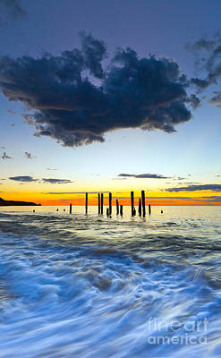 Port Willunga Sunset Art Print by Bill  Robinson