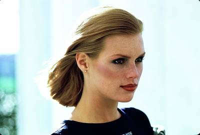 Photograph - Portrait Of Model Patti Hansen by Arthur Elgort