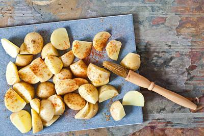 Oil Knife Photograph - Potatoes by Tom Gowanlock