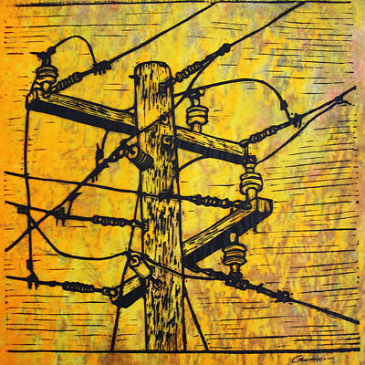 Drawing - Power Lines by William Cauthern