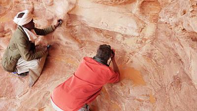 Sahara Photograph - Prehistoric Rock Paintings by Thierry Berrod, Mona Lisa Production