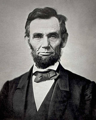 Politician Photograph - President Abraham Lincoln by Retro Images Archive