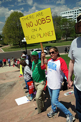 Xl Photograph - Protest Against Keystone Xl Pipeline by Jim West