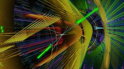 Proton Collision Art Print by Science Photo Library