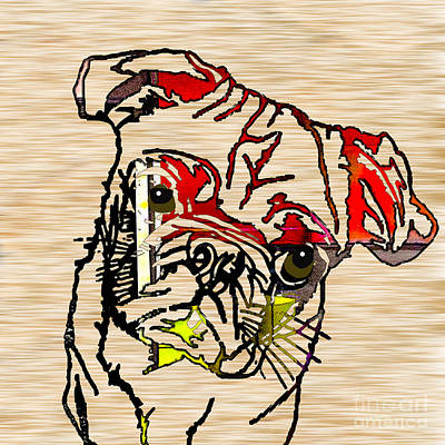 Puppies Mixed Media - Pug by Marvin Blaine