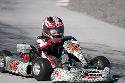 Photograph - Racing Go Kart by Gunter Nezhoda