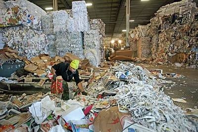 Bale Photograph - Recycling Plant by Jim West