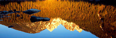Reflection Of Mountains In A Lake Art Print by Panoramic Images