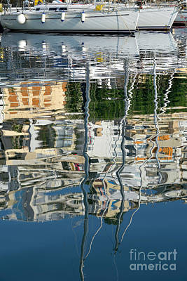 Sail Photograph - Reflections In Mikrolimano Port by George Atsametakis