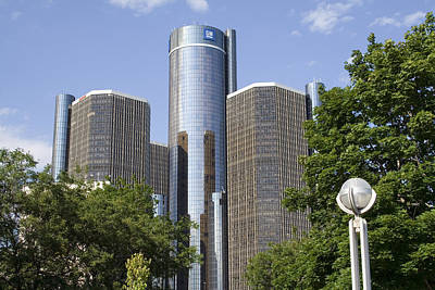 Detroit Photograph - Renaissance Center by Gary Marx