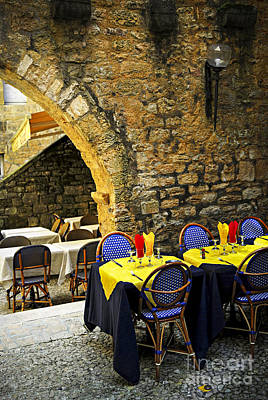 Ancient Culture Photograph - Restaurant Patio In France by Elena Elisseeva