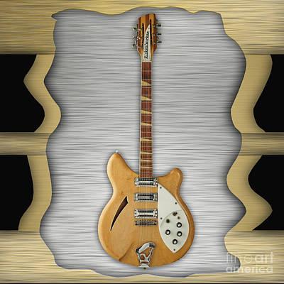 Rickenbacker Mixed Media - Rickenbacker Guitar Collection by Marvin Blaine