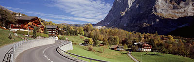 Grindelwald Photograph - Road Passing Through A Landscape by Panoramic Images
