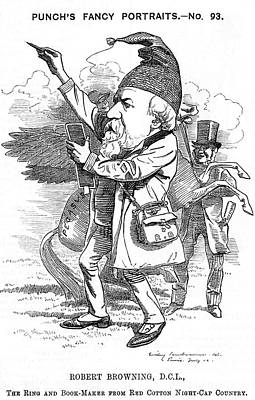 Nightcap Drawing - Robert Browning  The English Poet by Mary Evans Picture Library