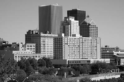 Xerox Photograph - Rochester New York Skyline by Bill Cobb