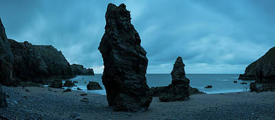 Rock Formations On The Beach Art Print by Panoramic Images