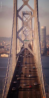 Giuseppe Cristiano Royalty Free Images - San Francisco Bay Bridge Royalty-Free Image by Alexander Fedin