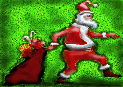 Painting - Santa Claus by Kevin Middleton