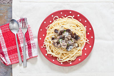 Spaghetti Photograph - Sardines And Spaghetti by Tom Gowanlock