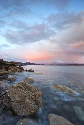 Door Locks And Handles - Scotland Sunset over Ben Eighe Mountain Range by Ollie Taylor