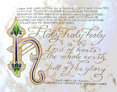 Scripture Series Art Print by Ginger Geftakys