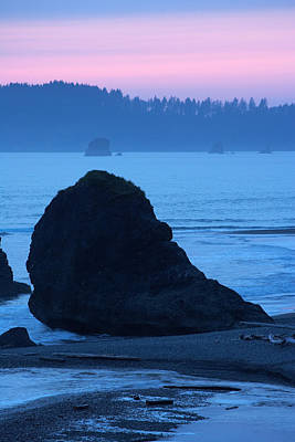 Photograph - Sea Stacks At Sunset by Byron Jorjorian