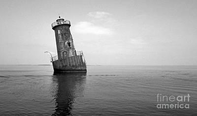 Sharps Island Lighthouse Art Print by Skip Willits