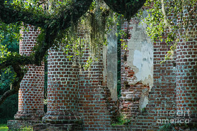 Photograph - Sheldon Church Ruins Sc by Dale Powell