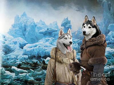 Husky Art Painting - Siberian Husky Art Canvas Print  by Sandra Sij