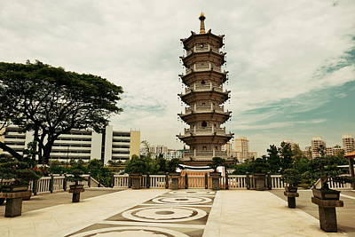 Photograph - Singapore Chinese Temple by Songquan Deng