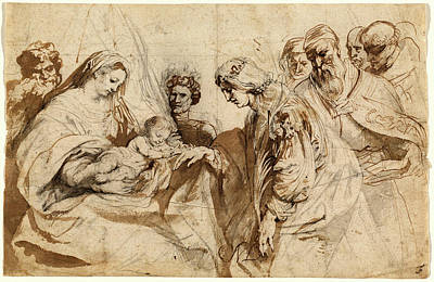 Wash Drawing - Sir Anthony Van Dyck, Flemish 1599-1641 by Litz Collection