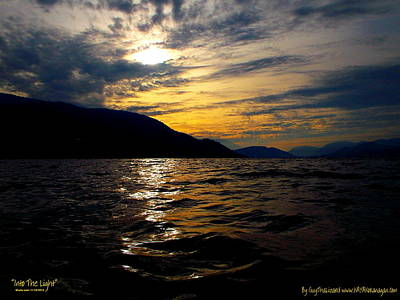 Art Print featuring the photograph Skaha Lake Sunset by Guy Hoffman