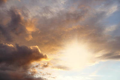 Sky Art Print by Les Cunliffe
