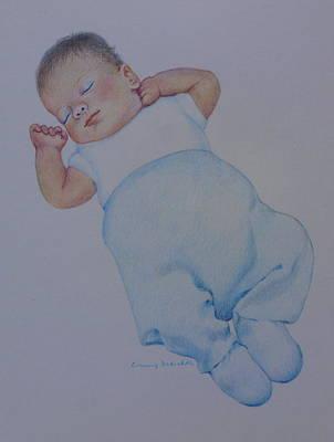 Drawing - Sleeping Baby by Constance Drescher