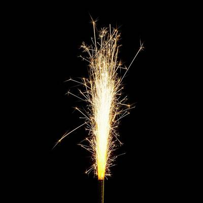 Sparkler Art Print by Science Photo Library