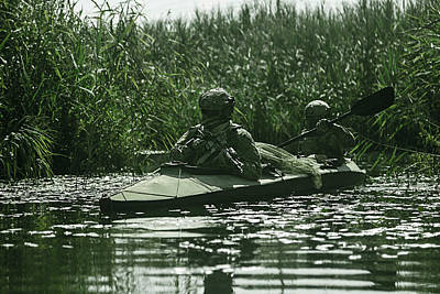 Photograph - Spec Ops In The Military Kayak by Oleg Zabielin