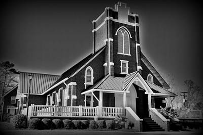 Red Photograph - St Peter Lutheran Church Chapin Sc Hdr 7 by Lisa Wooten