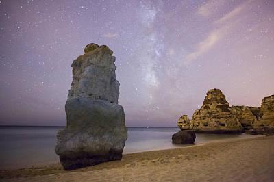 Startrails Photograph - Starry Sky At Praia Da Marinha by Andre Goncalves
