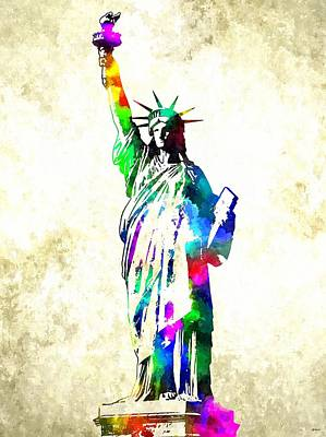 Statue Of Liberty Mixed Media - Statue Of Liberty by Daniel Janda
