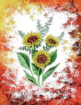 Sunflowers Print by Irina Sztukowski