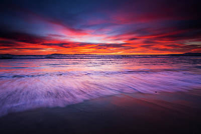 Santa Cruz Island Photograph - Sunset Over The Channel Islands by Russ Bishop