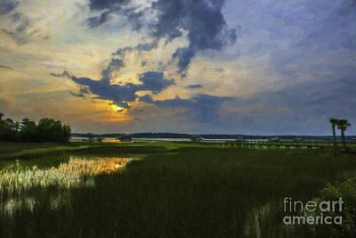 Wando River Marshlands Art Print by Dale Powell