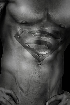 Athlete Digital Art - Superman  by Mark Ashkenazi