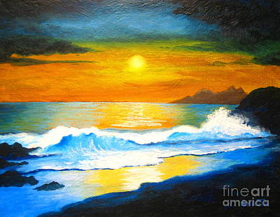 Painting - Surf And Sun  by Shasta Eone