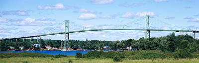 Thousand Islands Photograph - Suspension Bridge Across A River by Panoramic Images