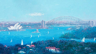 Sydney Harbour Bridge Painting - Sydney Harbour And The Opera House By Jan Matson by Jan Matson