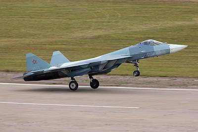 T-50 Photograph - T-50 Pak-fa Fifth Generation Jet by Artyom Anikeev