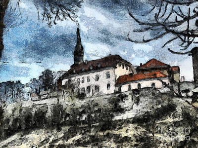 The Church Mixed Media - Tallin by Yury Bashkin