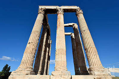 Olympian Photograph - Temple Of Olympian Zeus In Athens by George Atsametakis