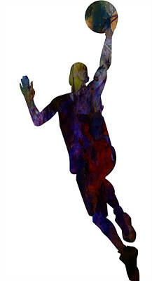Sports Paintings - The Basket Player by Adam Asar